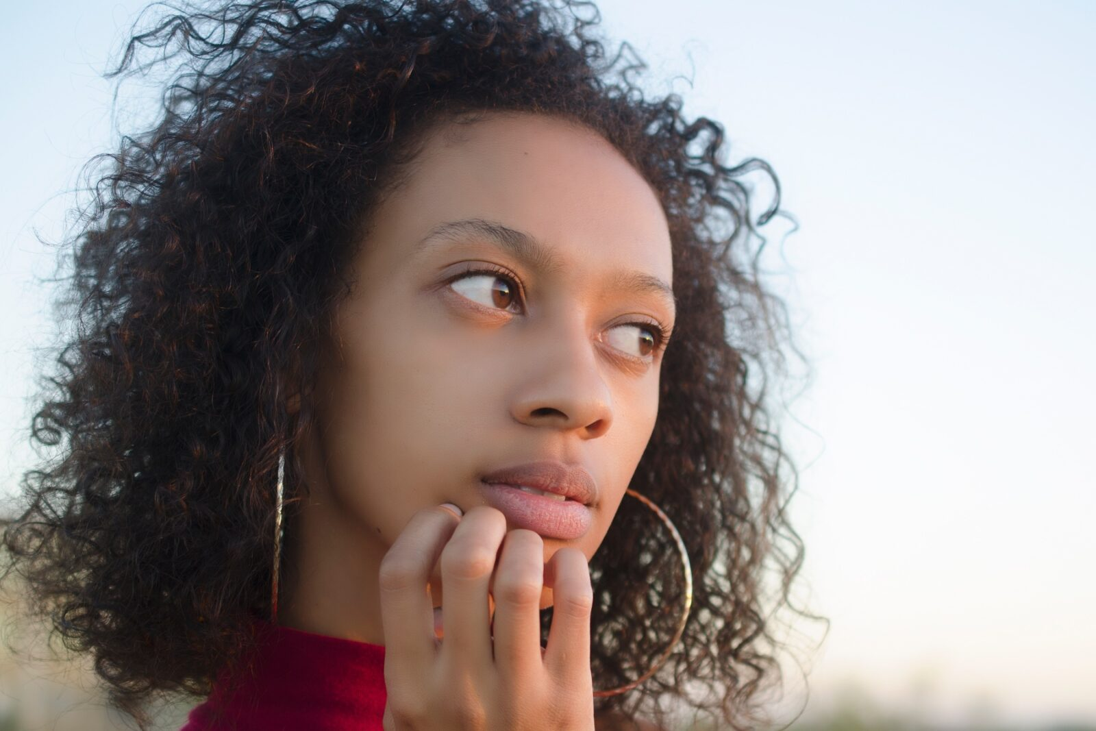 Young woman looking worried