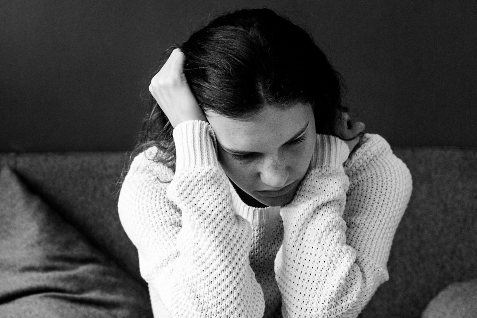 Young woman with anxiety