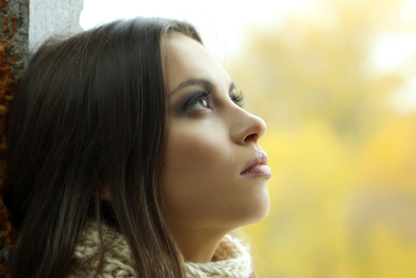 Young woman thinking about making changes in her life