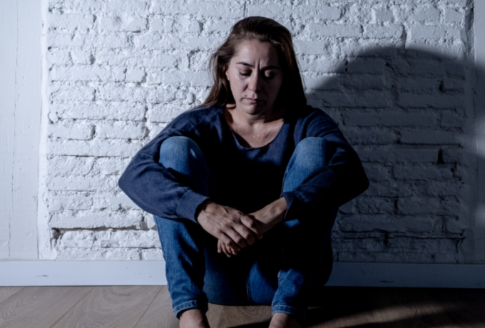 Woman experiencing domestic and family violence
