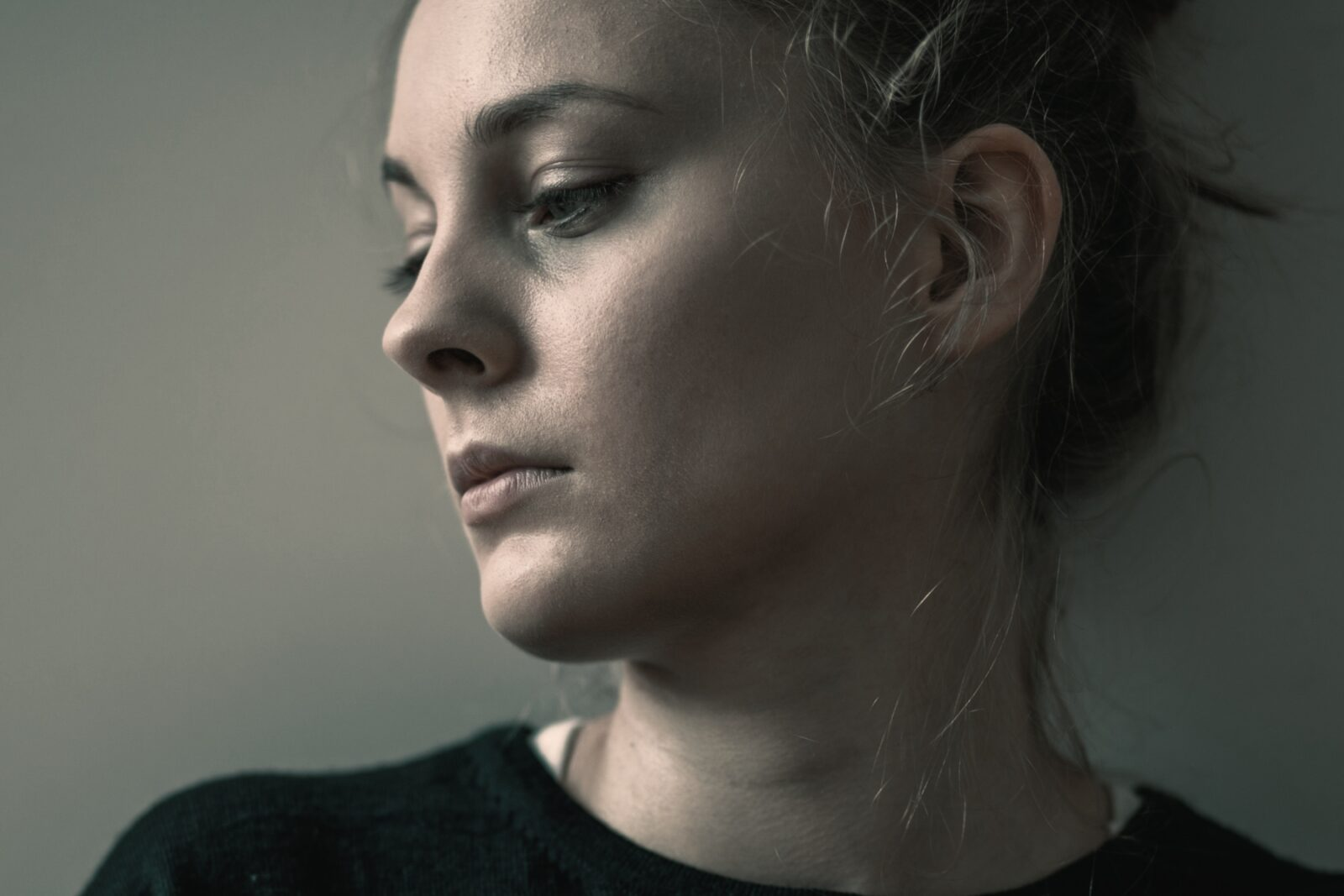 Young woman with bipolar disorder