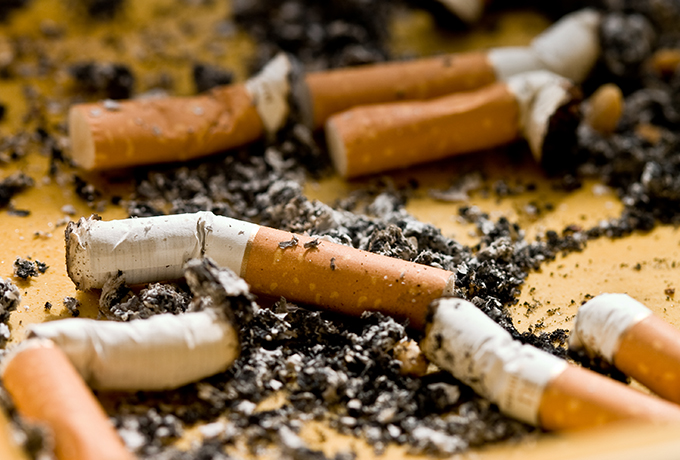 Quit smoking - discarded cigarettes